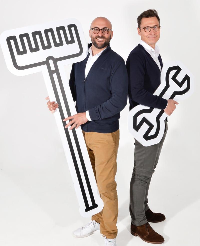 Julien Boué et Marc Leverger, les fondateurs de Brico Privé en 2021